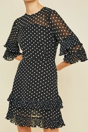 Hayden Los Angeles Pleated Polka-Dot Ruffle-Shift-Dress - Back cropped