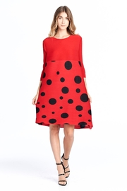 Nabisplace Pleated Polkadots Dress - Product Mini Image