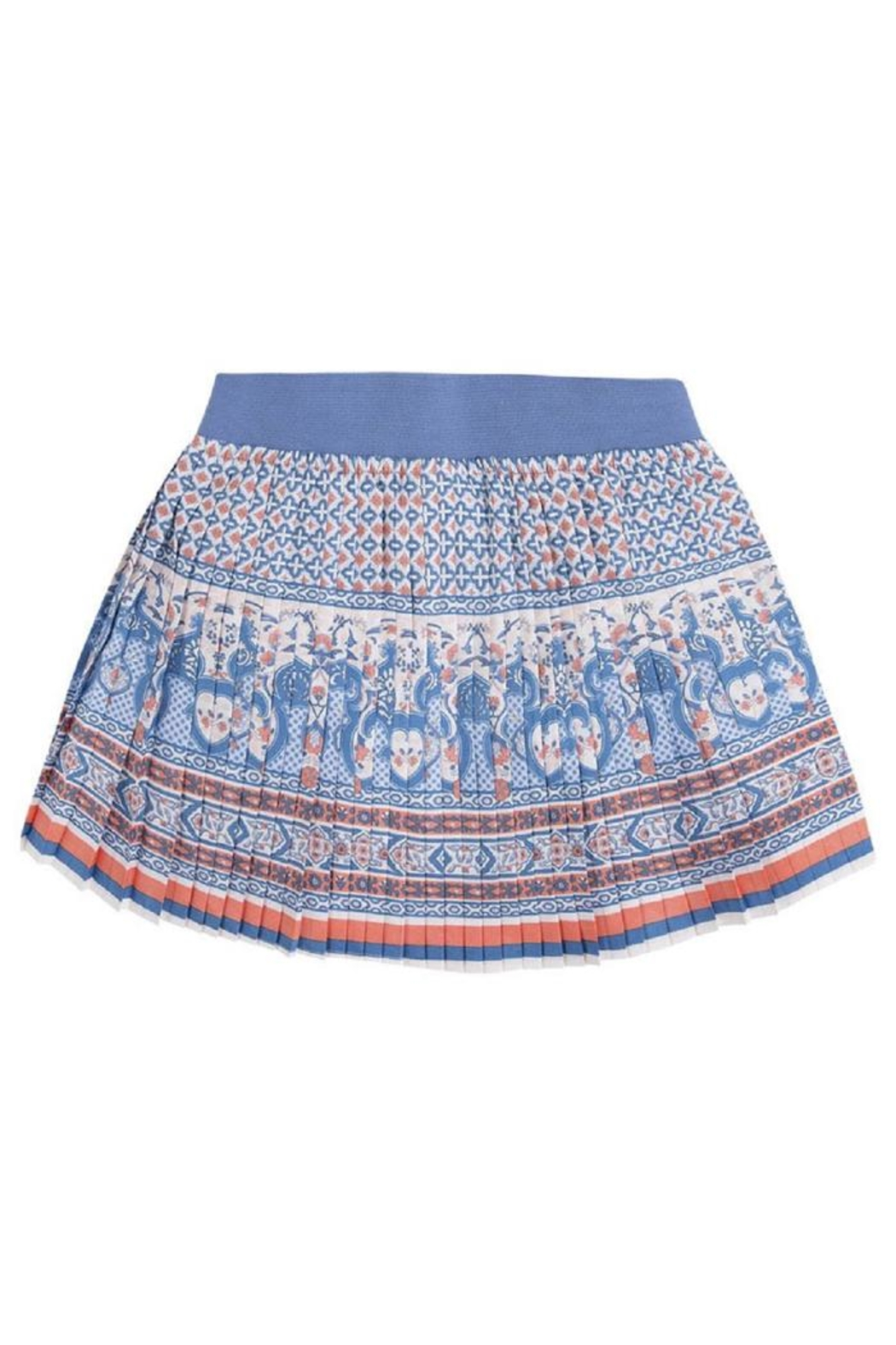Mayoral Pleated Printed Skirt - Front Full Image