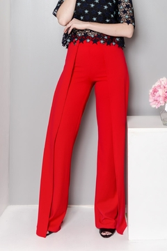 MODChic Couture Pleated Red Trousers - Product List Image