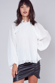 Do + Be  Pleated Ruffle Blouse - Side cropped