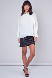 Do + Be  Pleated Ruffle Blouse - Back cropped