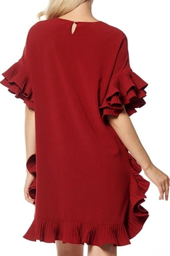 Gracia Pleated Ruffle Dress - Alternate List Image