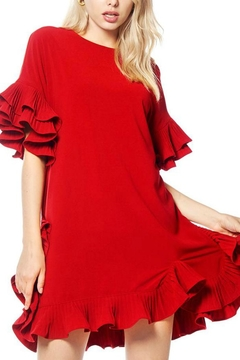 Gracia Pleated Ruffle Dress - Product List Image