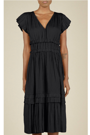 Current Air Pleated ruffle dress - Front cropped