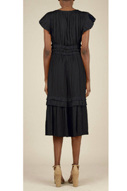 Current Air Pleated ruffle dress - Front full body
