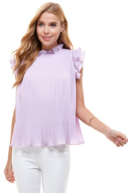 TCEC Pleated Ruffle Top - Front cropped