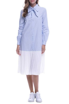 English Factory Pleated Shirt Dress - Product List Image