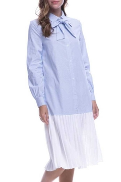 English Factory Pleated Shirt Dress - Alternate List Image