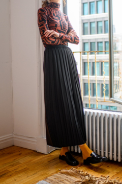 Level Pleated Skirt with Panels - Product List Image