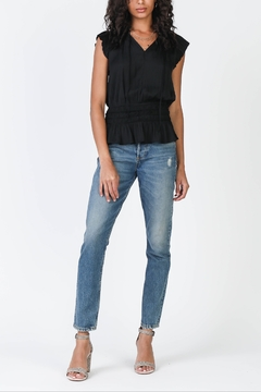 Current Air Pleated Slvls Top w Smocked Waist - Product List Image