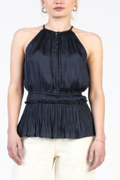 Current Air Pleated & Smocked Halter - Product List Image