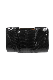Sondra Roberts Pleated Snake Clutch - Product Mini Image
