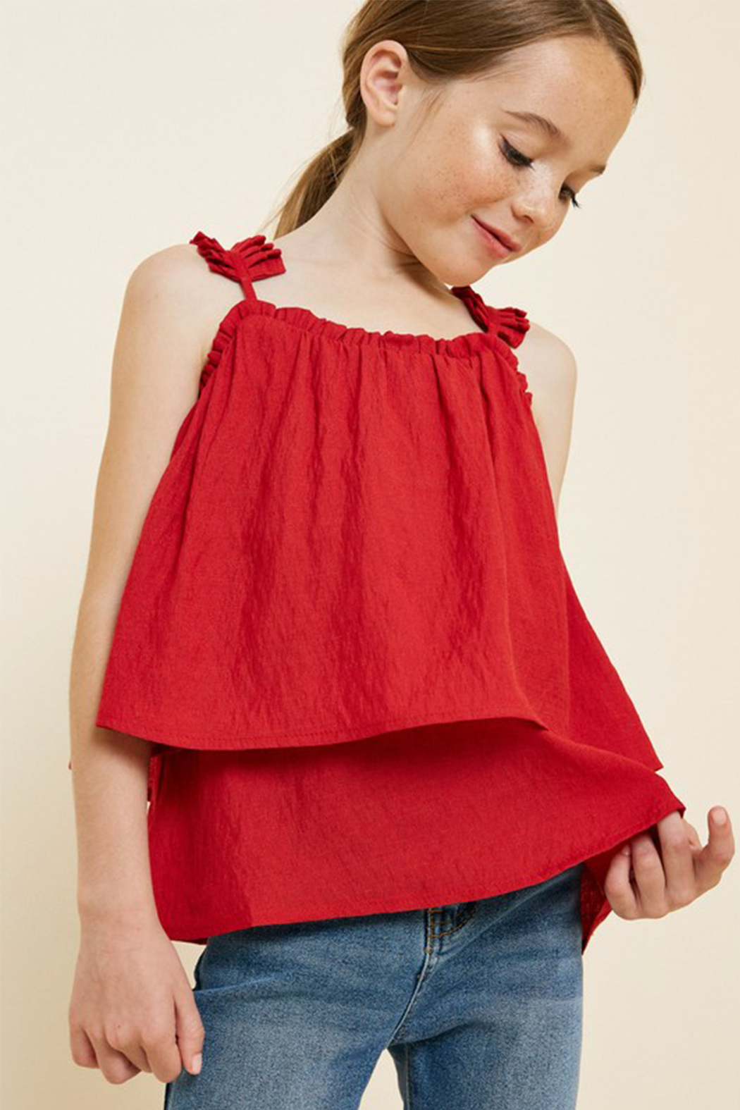 Hayden Pleated Strap Cami - Main Image