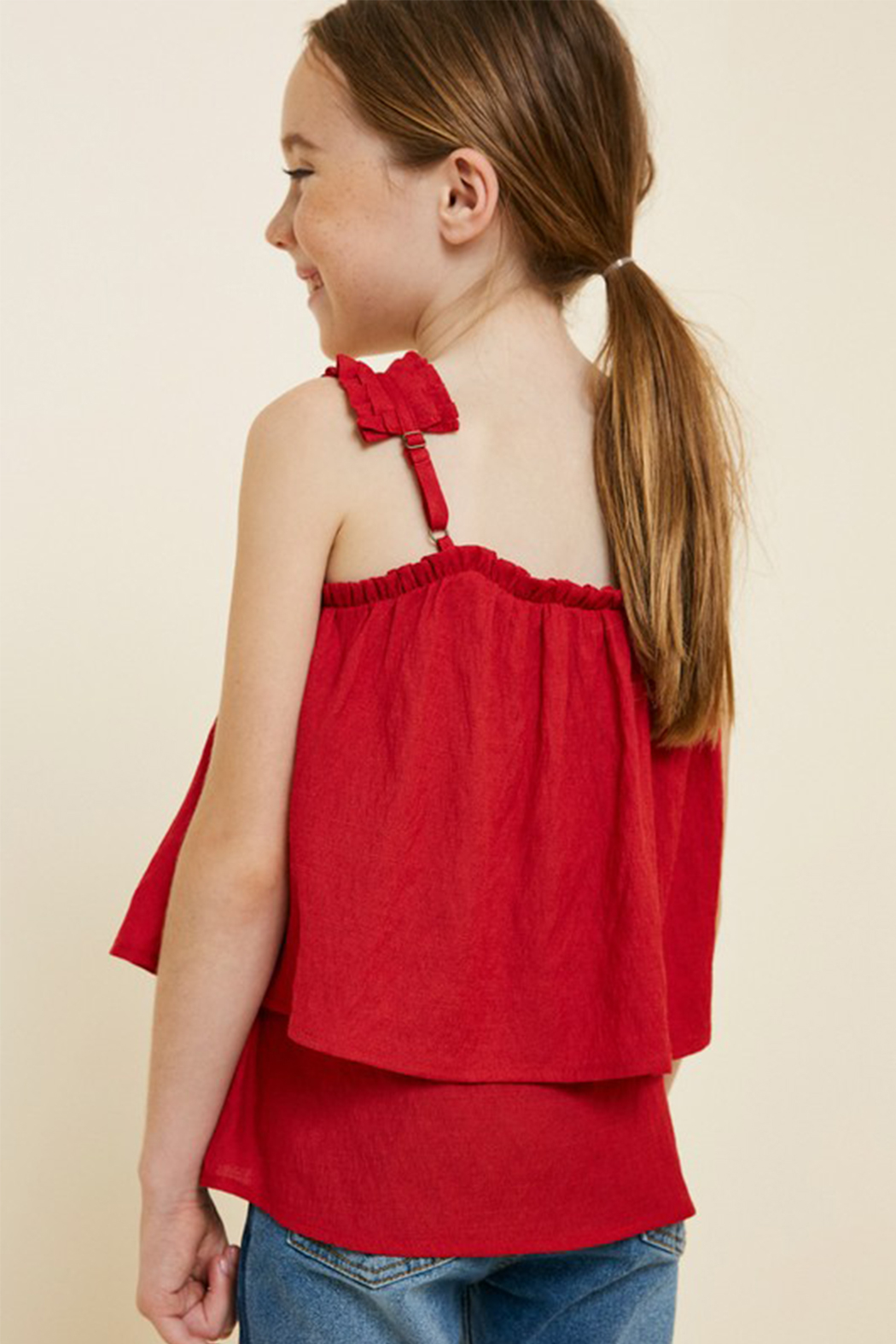 Hayden Pleated Strap Cami - Side Cropped Image