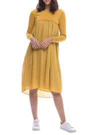 English Factory Pleated Sweater Dress - Front cropped