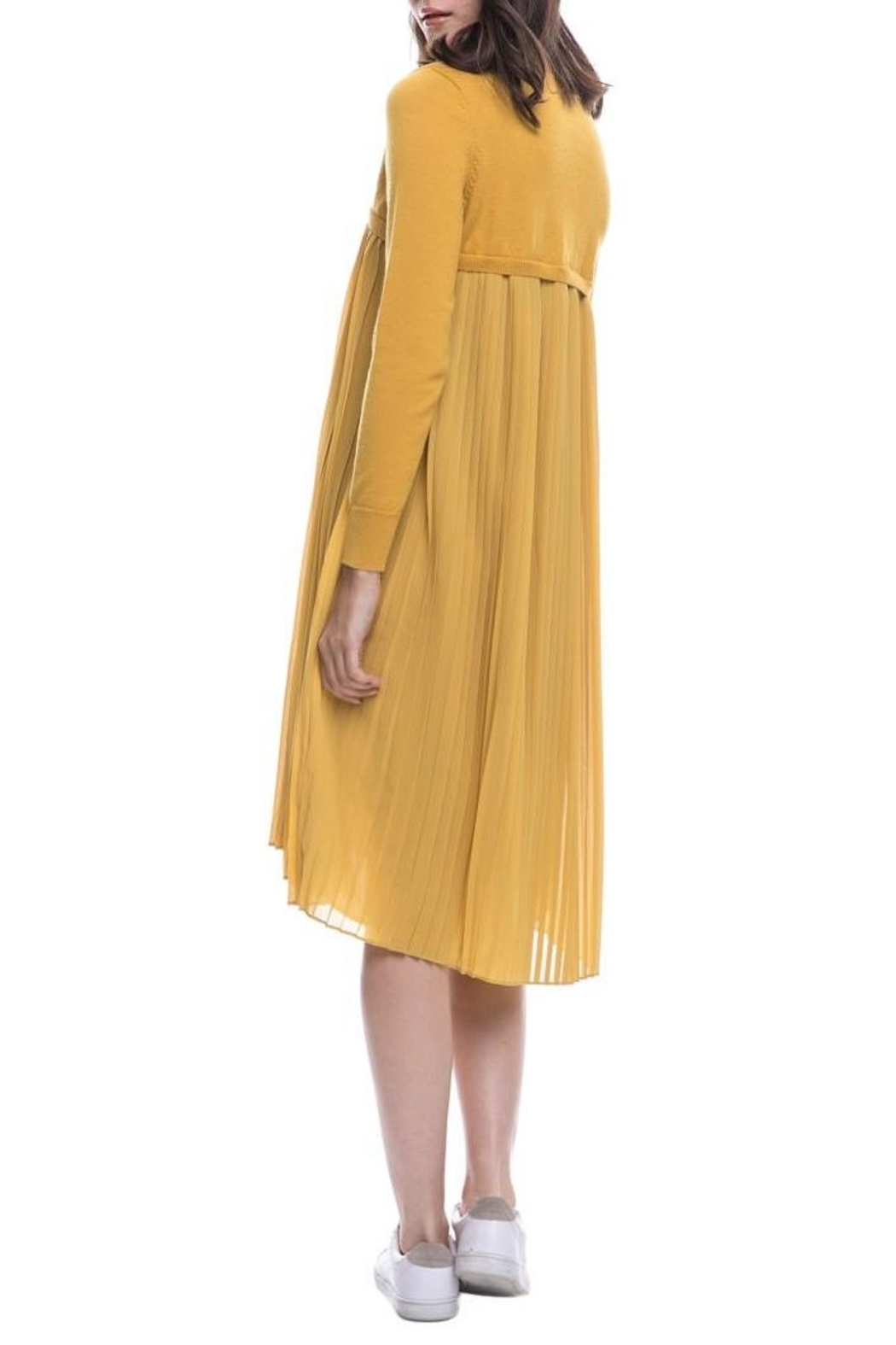 English Factory Pleated Sweater Dress - Side Cropped Image