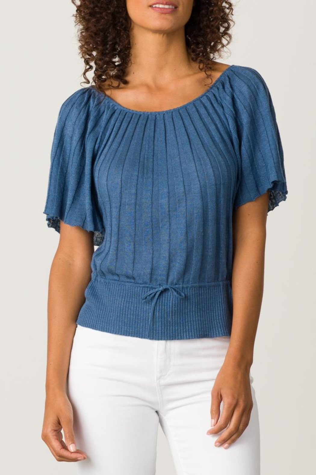 Margaret O'Leary Pleated Top - Front Cropped Image