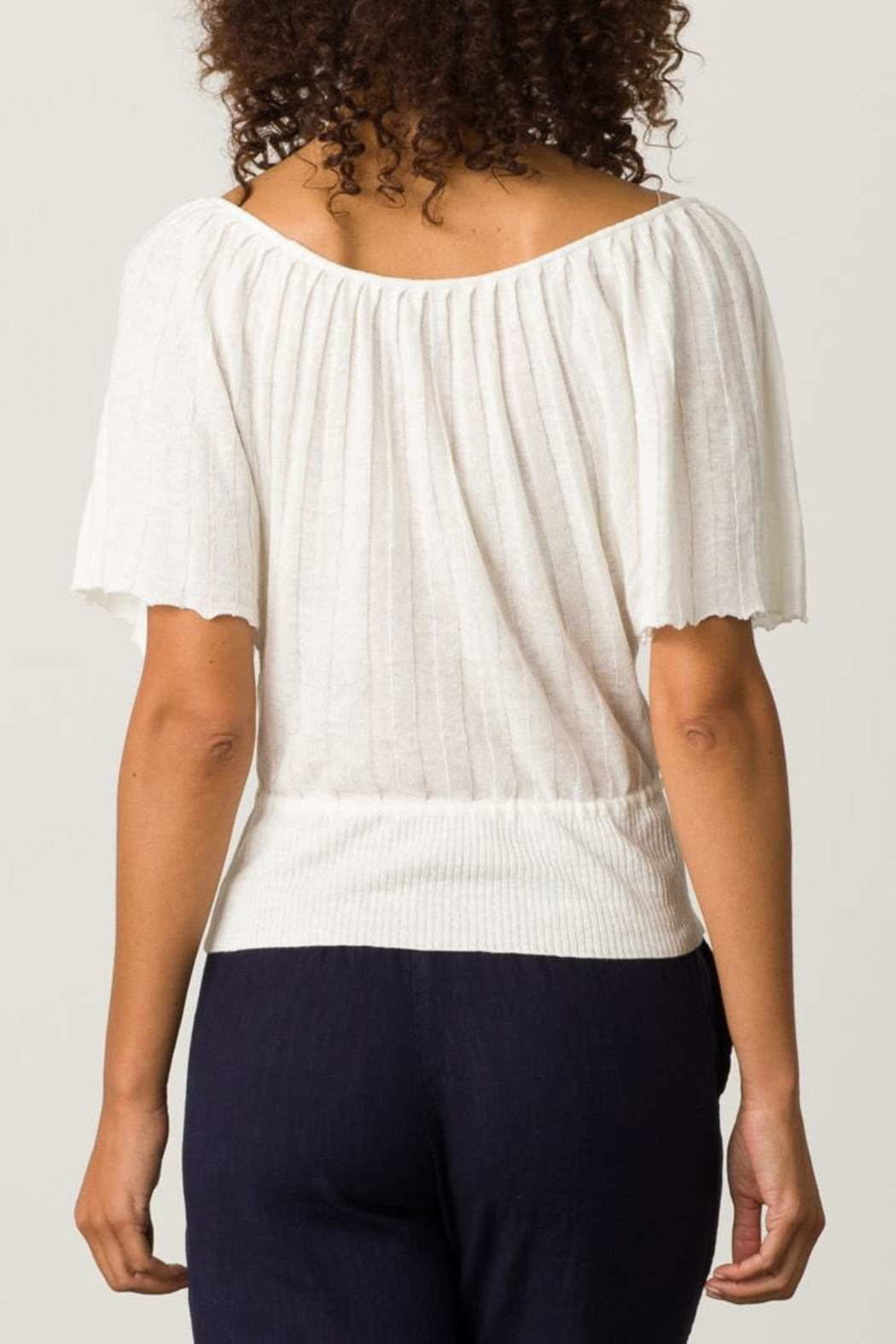 Margaret O'Leary Pleated Top - Back Cropped Image