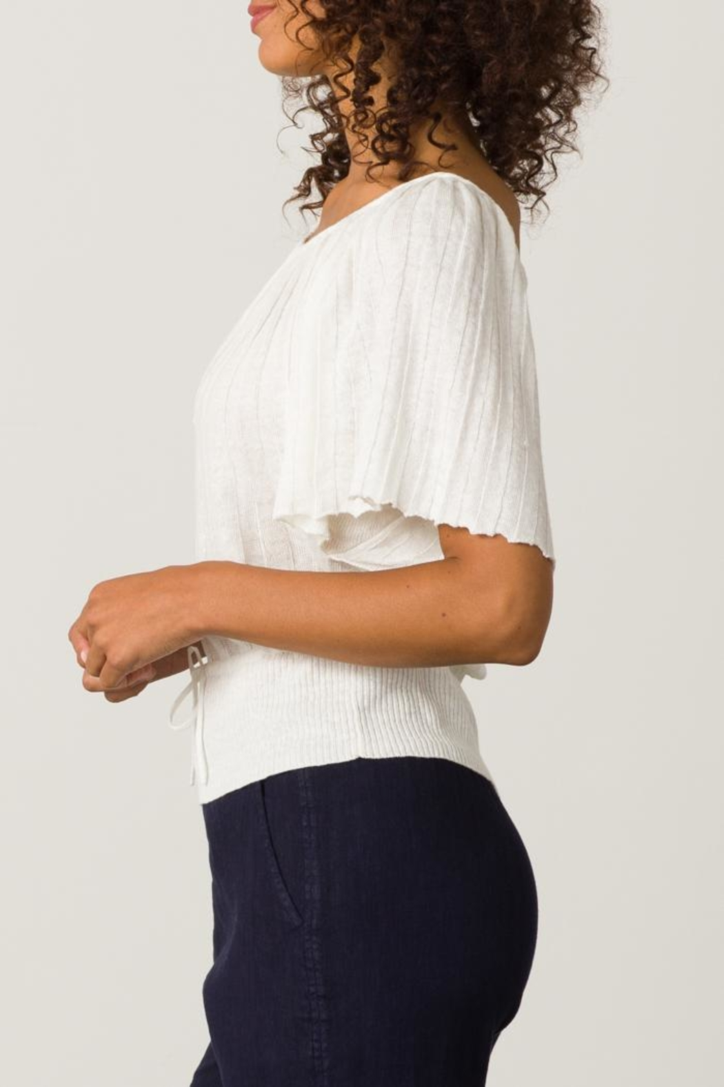 Margaret O'Leary Pleated Top - Side Cropped Image