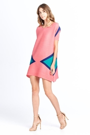 Nabisplace Pleated Trianglepattern Minidress - Front cropped