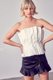 Do + Be  Pleated Tube Top - Product Mini Image