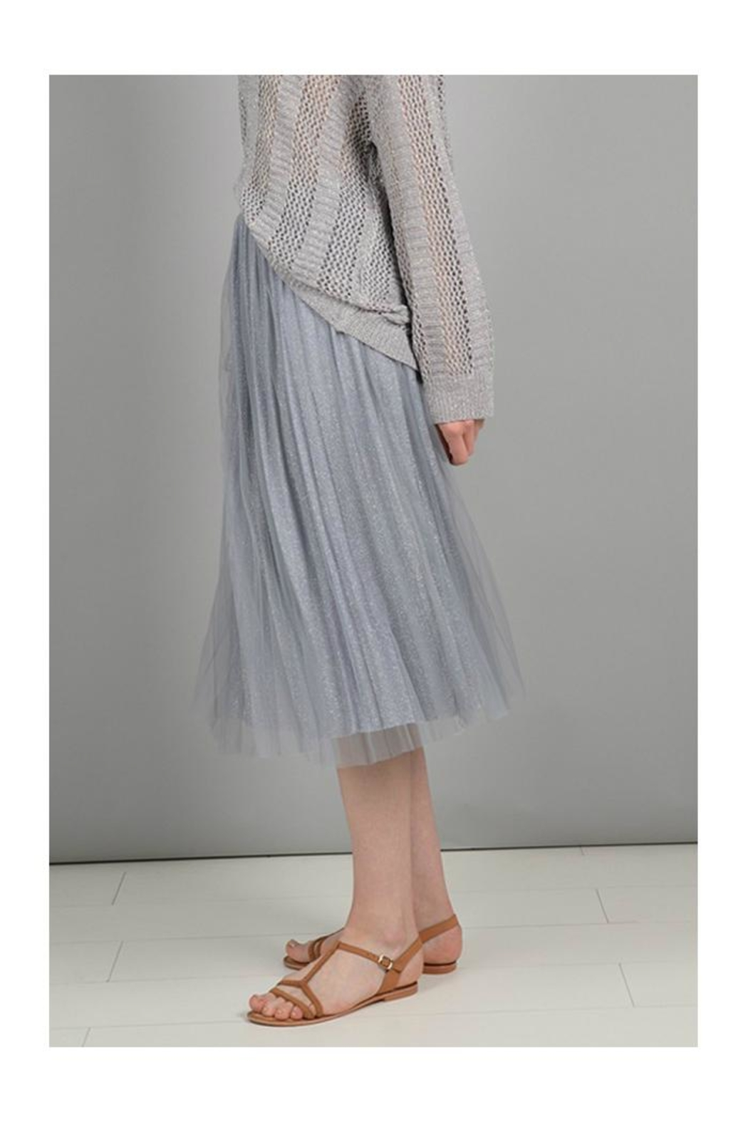 Molly Bracken Pleated Tulle Skirt - Front Full Image
