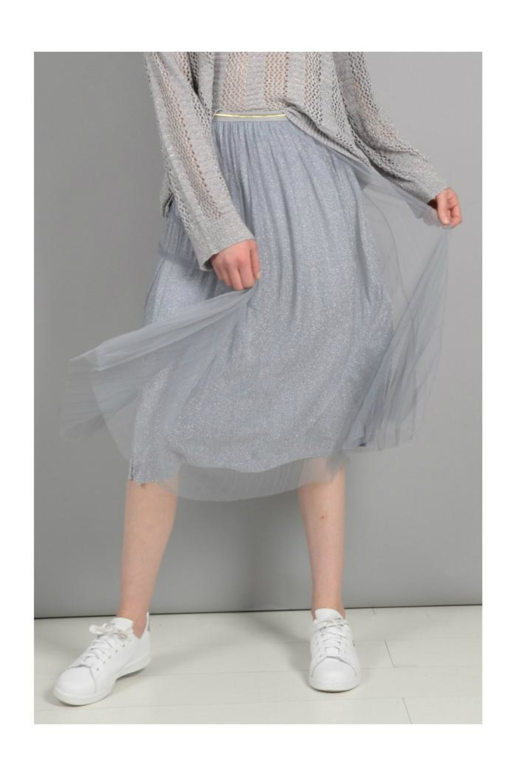 Molly Bracken Pleated Tulle Skirt - Front Cropped Image