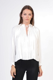 Current Air Pleated V Neck Blouse - Product Mini Image