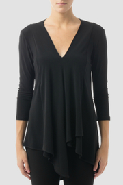 Joseph Ribkoff Pleated v-neck tunic - Product Mini Image