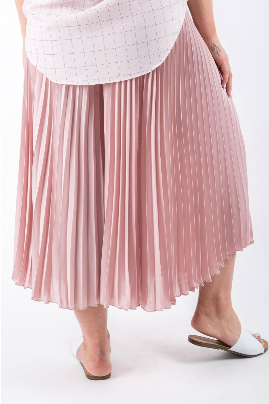 Yuki Tokyo Pleated Wide Culottes - Side Cropped Image