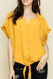 Glam Pleated Woven Top - Product Mini Image