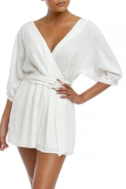 luxxel Pleated Wrap Romper - Product Mini Image