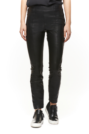 | Pleather Front Pull-on Pant | Goxip