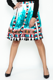 Plenty by Tracy Reese A Line Button Skirt - Front cropped