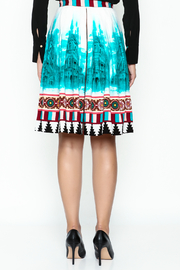 Plenty by Tracy Reese A Line Button Skirt - Back cropped