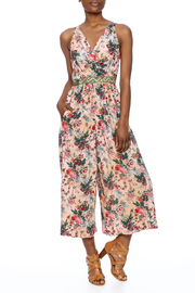 Plenty by Tracy Reese Peach Floral Jumpsuit - Product Mini Image