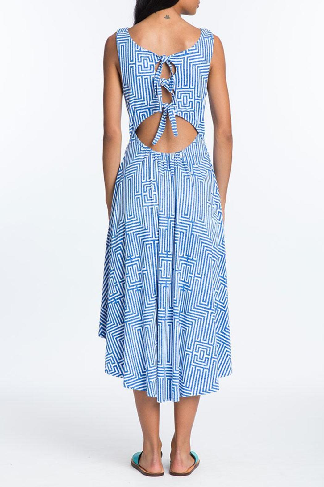 Plenty by Tracy Reese Back Tie Midi Dress - Side Cropped Image