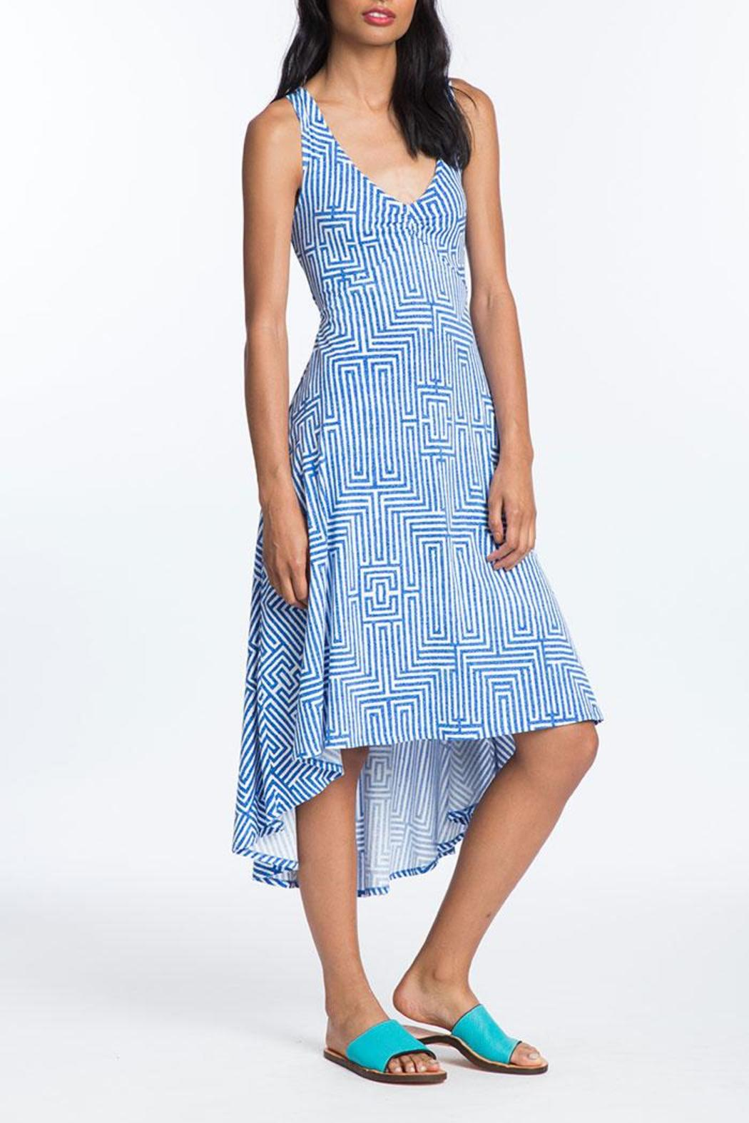 Plenty by Tracy Reese Back Tie Midi Dress - Front Cropped Image
