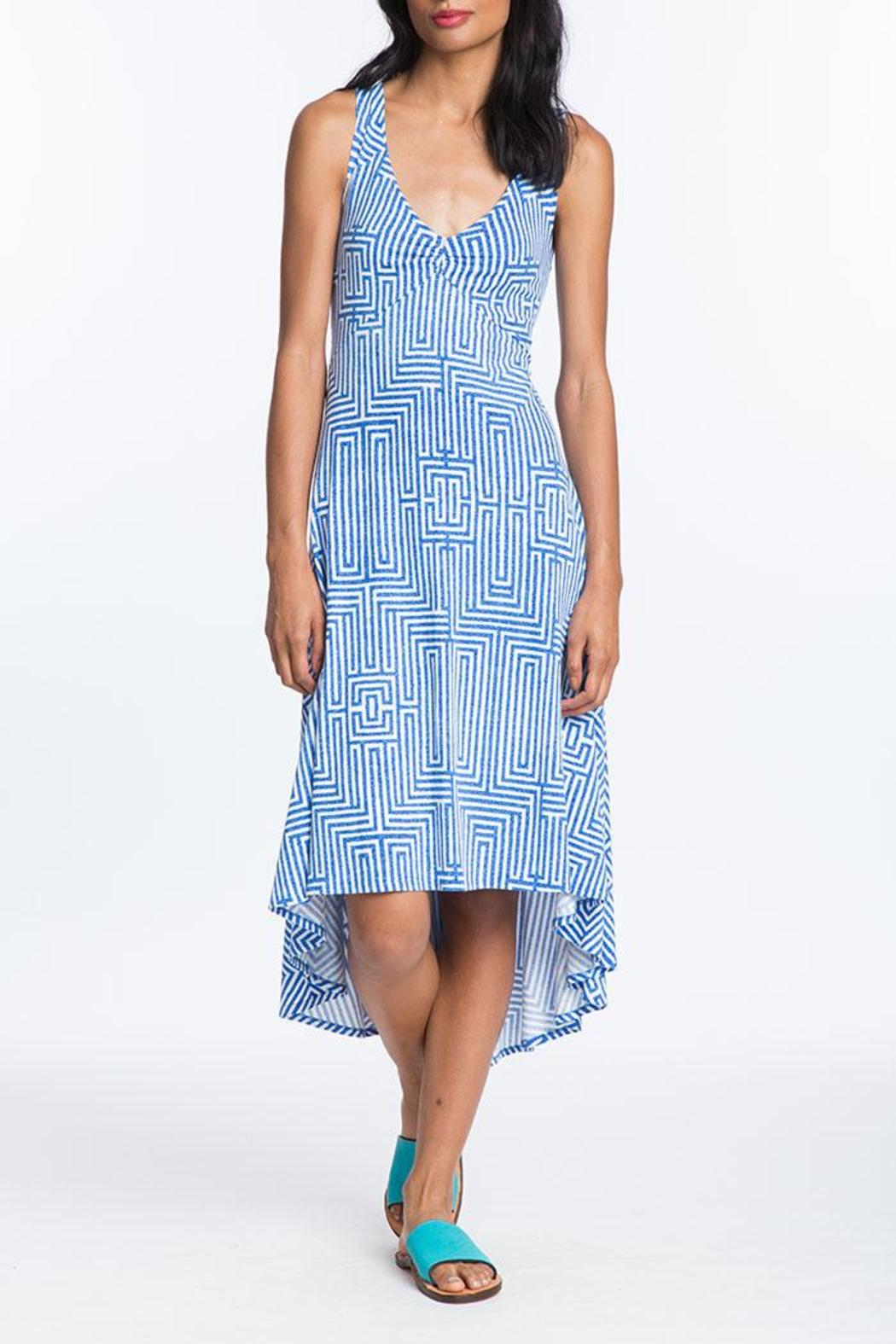 Plenty by Tracy Reese Back Tie Midi Dress - Front Full Image