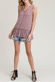Doe & Rae Plum Babydoll Tank - Product Mini Image