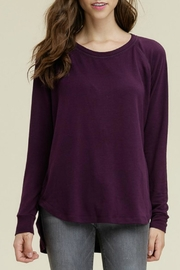 Staccato Plum Button Top - Product Mini Image