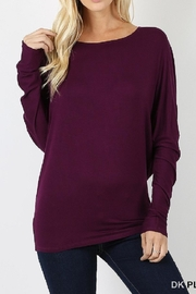 Zenana Outfitters Plum Dolman Top - Product Mini Image