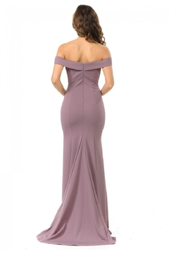 Lenovia  Plum Off Shoulder Fit & Flare Long Formal Dress - Alternate List Image