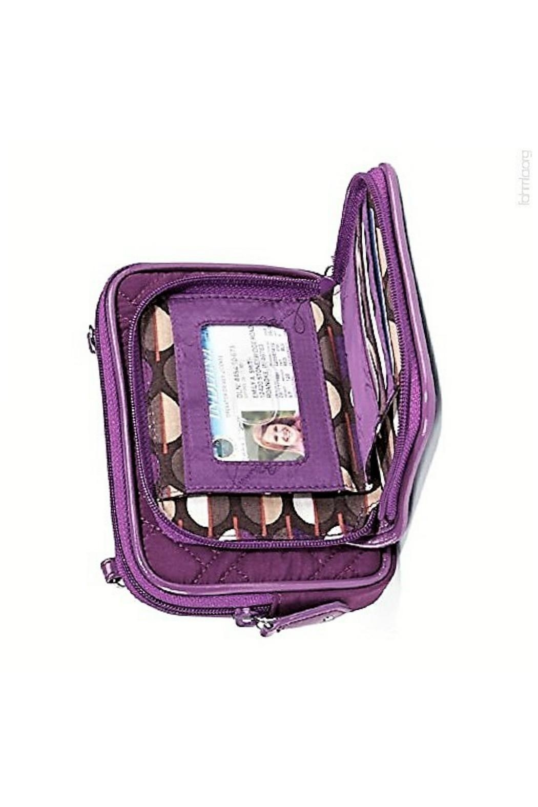 Vera Bradley Plum On-The-Square Wristlet - Front Full Image
