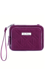 Vera Bradley Plum On-The-Square Wristlet - Front cropped