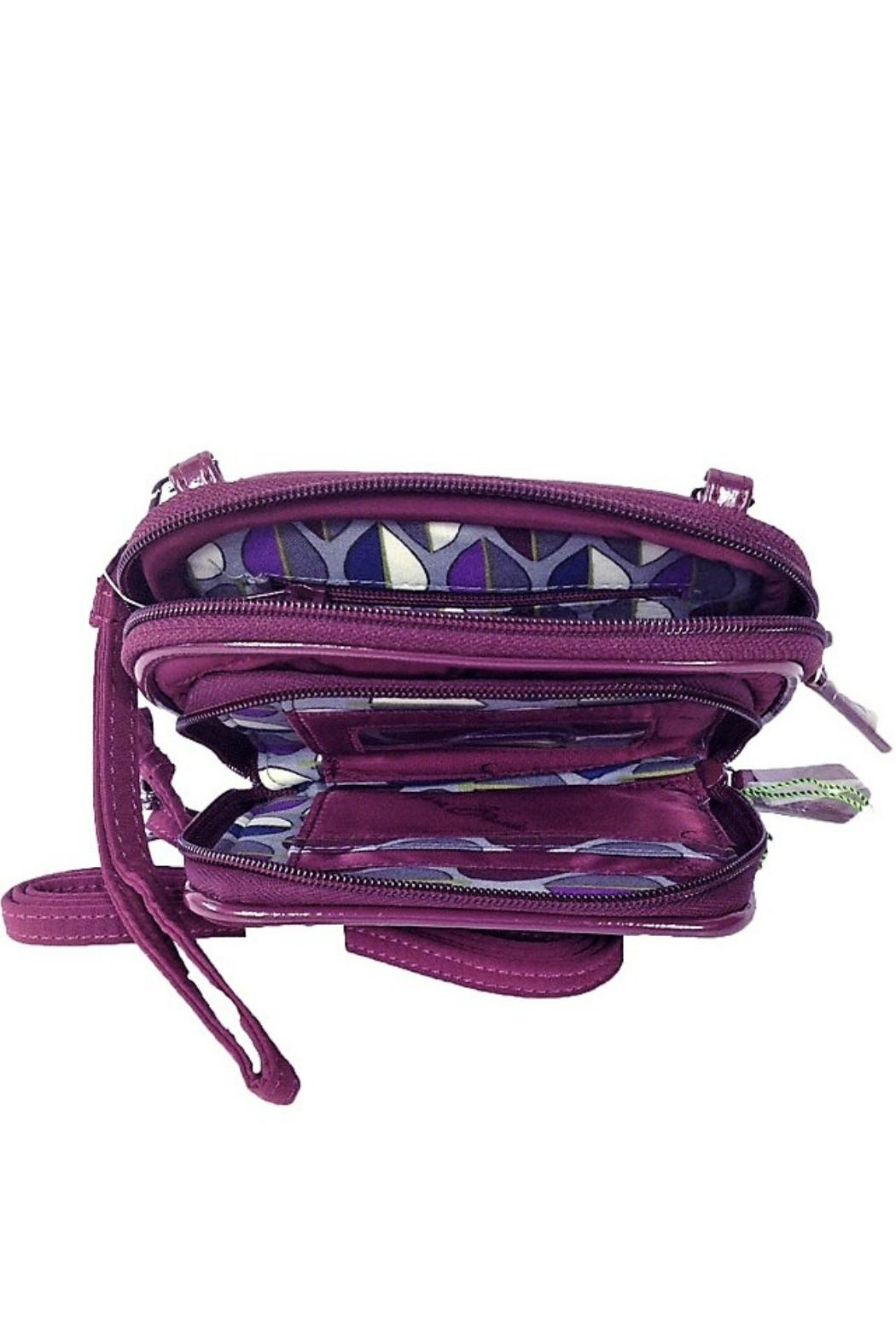 Vera Bradley Plum On-The-Square Wristlet - Back Cropped Image