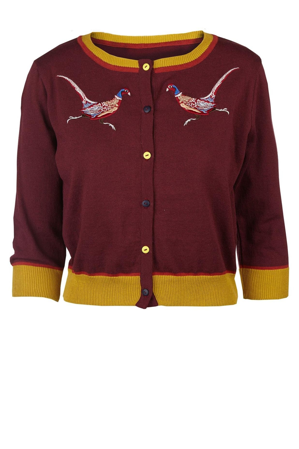 43f16757849 Palava Plum Pheasant Cardigan from New York by Pollyanna and Dot ...