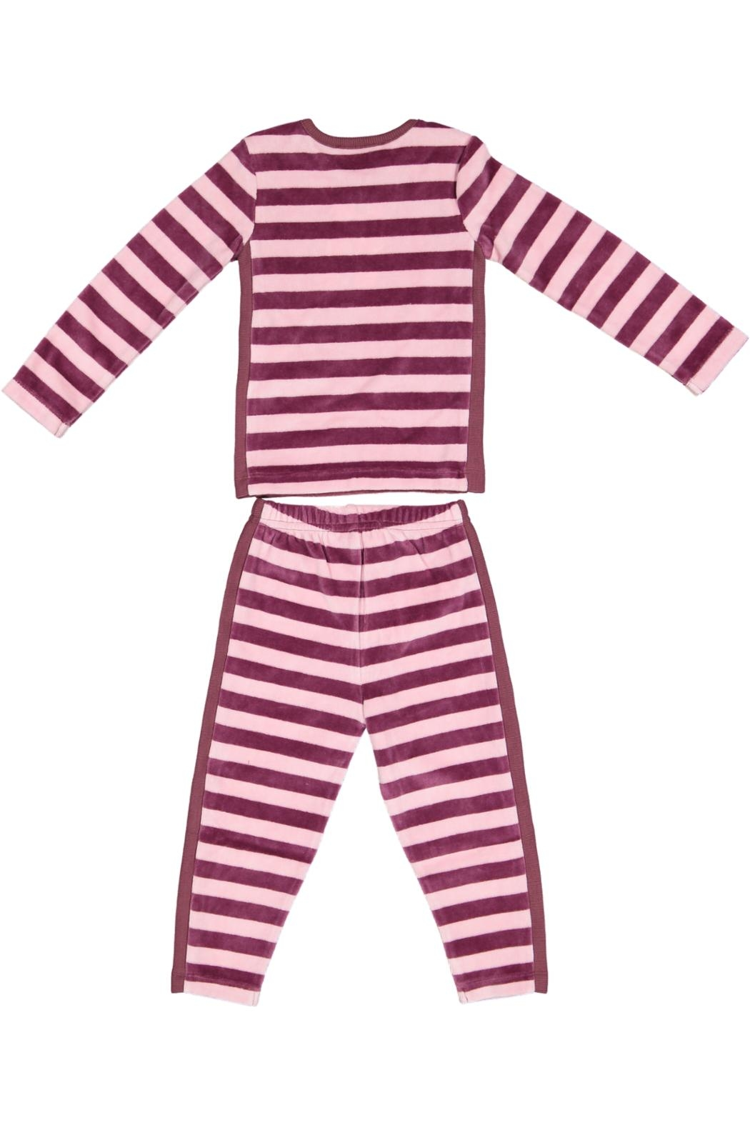 Pounds and Ounces Plum/pink Striped Pyjama - Front Full Image