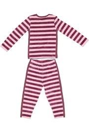 Pounds and Ounces Plum/pink Striped Pyjama - Front full body